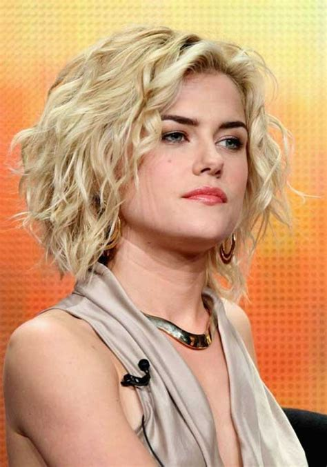 short wavy blonde hair cuts hairstyles for short curly hair short hairstyles 2017