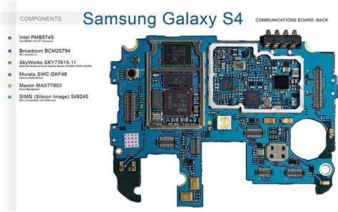 Part Ic Iphone 4g Wifi Rafencell samsung galaxy s4 smartphone teardown board chip