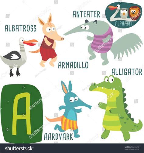 quot animals zoo alphabet with animals u zoo alphabet vector letter stock vector