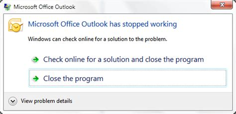 Office 365 Outlook Has Stopped Working Outlook Experienced A Series Problem With The Microsoft
