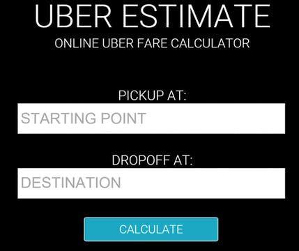fare estimate uber uber fare estimate product hunt