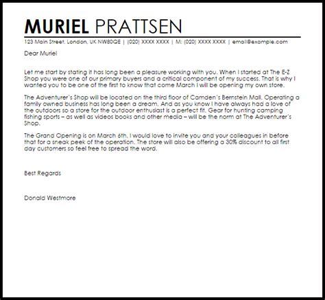 New Business Announcement Letter   Announcement Letters