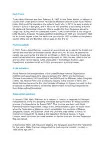 essay biography tun abdul rahman biography of tunku abdul rahman