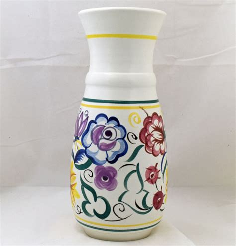 Poole Pottery Vase Patterns by Poole Pottery Painted Traditional Vase In The Cs