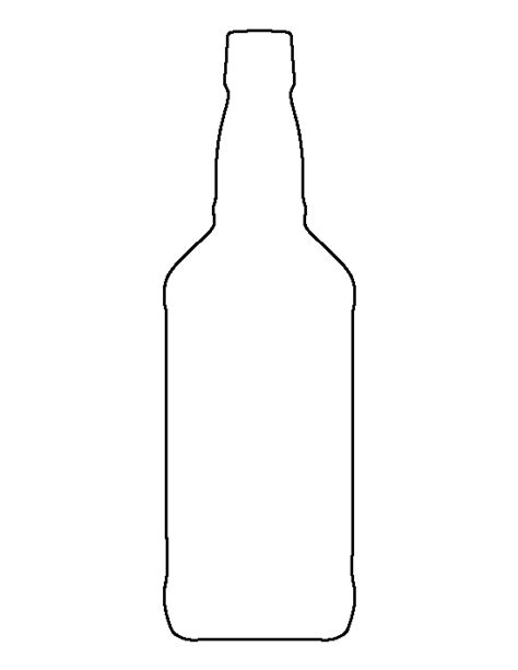 printable glass stencils whiskey bottle pattern use the printable outline for