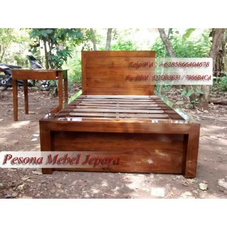 Kasur Laci Minimalis dipan single dipan anak minimalis laci 2 kayu jati ukuran kasur 100 x 200 cm