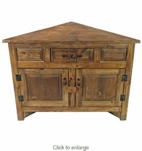 Wood Corner Cabinet Small Rustic Wood Corner Cabinet With Two Doors