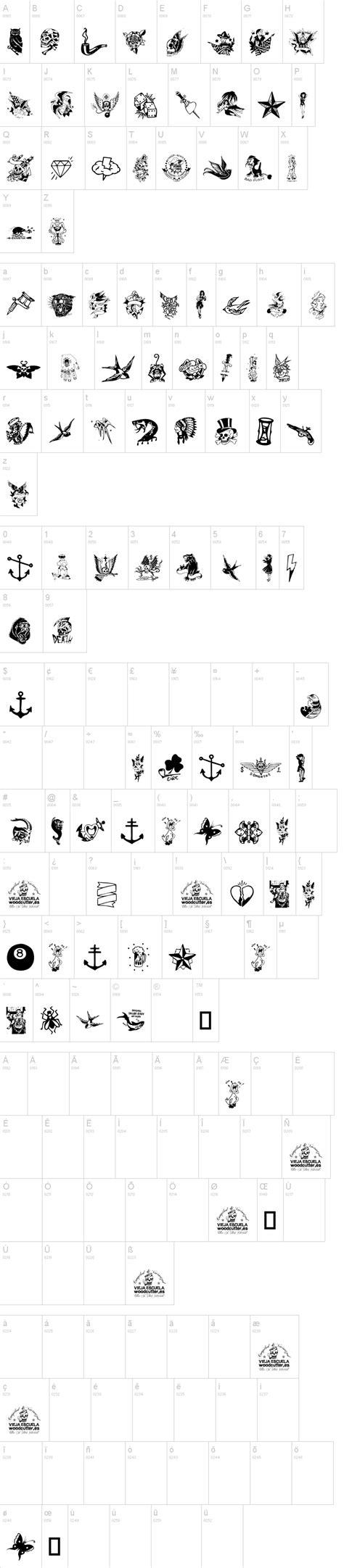 tattoo vieja escuela 3 font dafont com