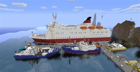 minecraft ferry boat amorella huge ferry minecraft project