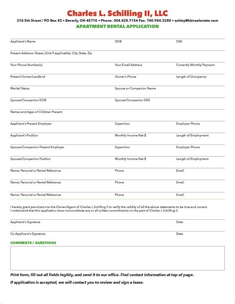 printable apartment lease google search lease printable employment application form search results