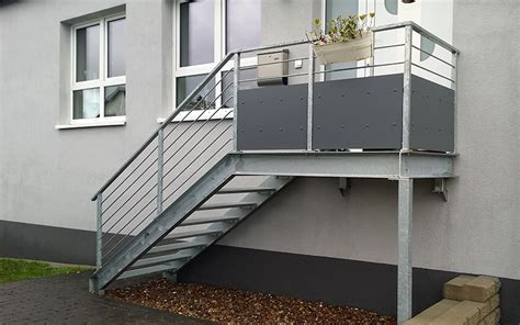 balkongeländer mit treppe stahltreppen und gel 228 nder eggersmann metallbau gmbh