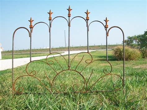Wrought Iron Garden Fence by Wrought Iron Sunburst Garden Edging Fence