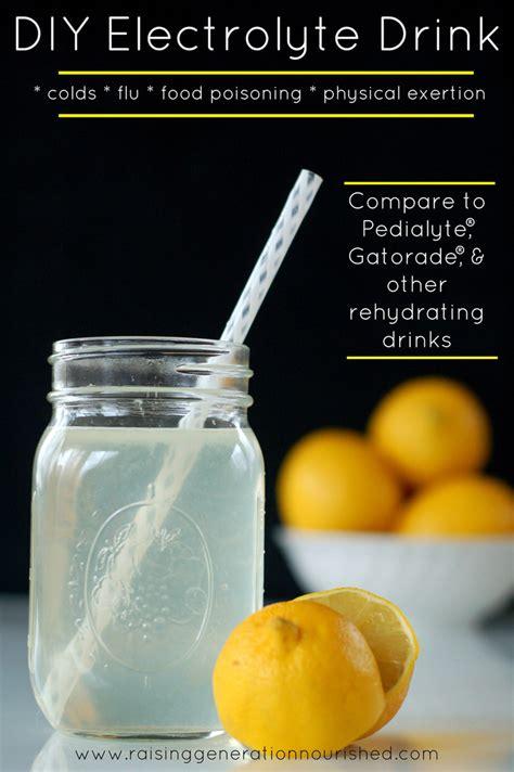 hydration flu diy electrolyte drink rehydration for colds