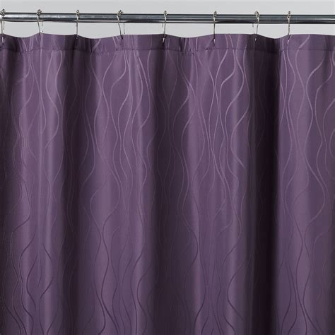 Cloth Shower Curtains Essential Home Vintage Violet Fabric Shower Curtain