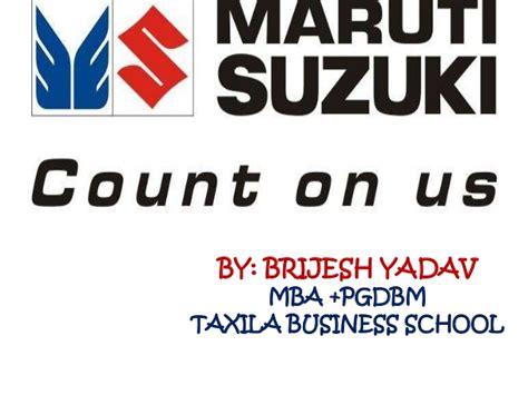 In Maruti For Mba Fresher by Maruti Suzuki Brijesh