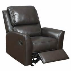 Piper brown italian leather rocker recliner chair
