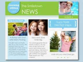 Family Newsletter Templates Free by Family News Free Newsletter Smilebox