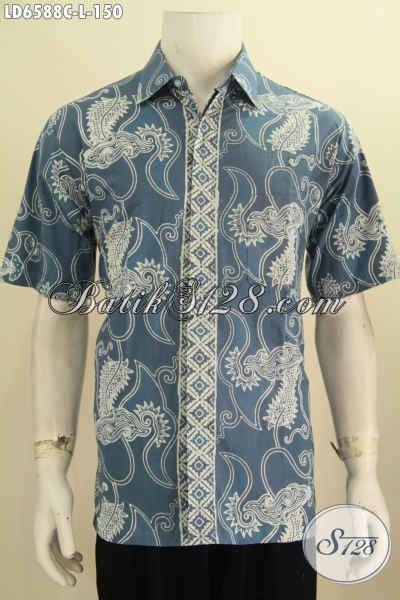 Desain Baju Batik Yang Bagus | kemeja batik warna bagus motif trendy berpadu desain