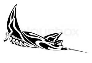 manta ray tribal tattoo stock vector colourbox