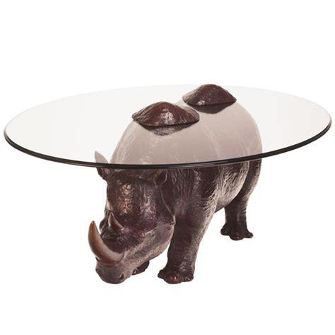 bespoke bronze sculpture stoddart rhino coffee table