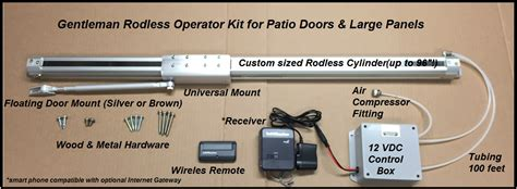 Patio Door Opener New Gentleman Rodless Patio Door Opener