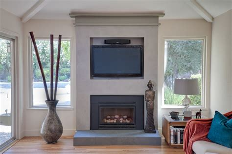 wall mount gas fireplace living room modern with fireplace