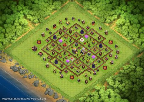 th11 clash of clans best base layouts th11new th11 hybrid base by vini122 clash of clans