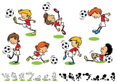 imagenes de niños jugando futbol en caricatura bonitas imagenes de ni 241 os de caricatura que estan jugando