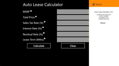 Novated Lease Calculator Spreadsheet by Auto Lease Calculator Images Frompo