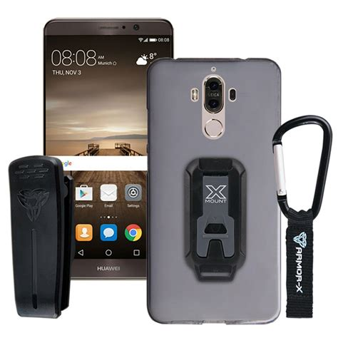 Huawei Mate 9 TPU protective case with belt clip and