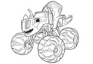 blaze coloring blaze and the machine coloring sheets coloring pages