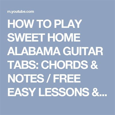 1000 ideen zu sweet home alabama chords auf