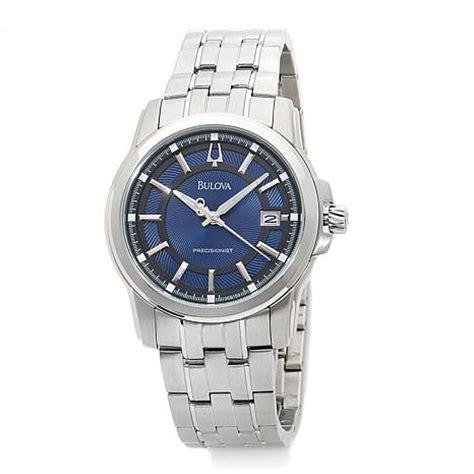 Bulova Men's Langford Collection Precisionist Blue Dial Stainless Steel Bracele   7198504   HSN