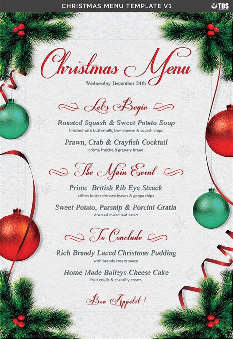 christmas menu template v1 by thats design store