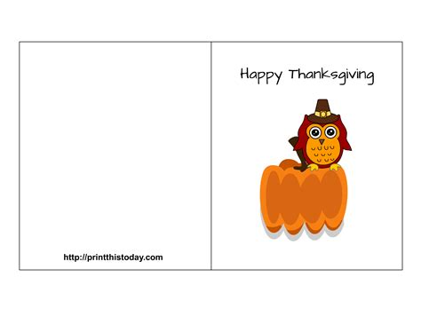 Free Thanksgiving Templates For Greeting Cards by Free Printable Thanksgiving Cards Create And Print Free