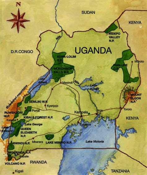 map of uganda map of uganda national parks barbet safaris