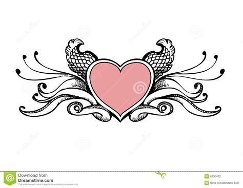 heart sketch stock photography image 6250432