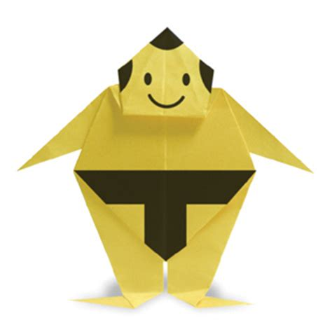 How To Make A Paper Sumo Wrestler - origam sumo wrestler
