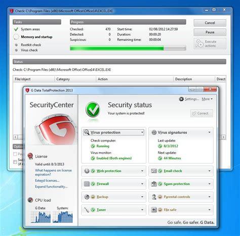 g data antivirus 2013 full version free download g data totalsecurity 2014 full screenshot