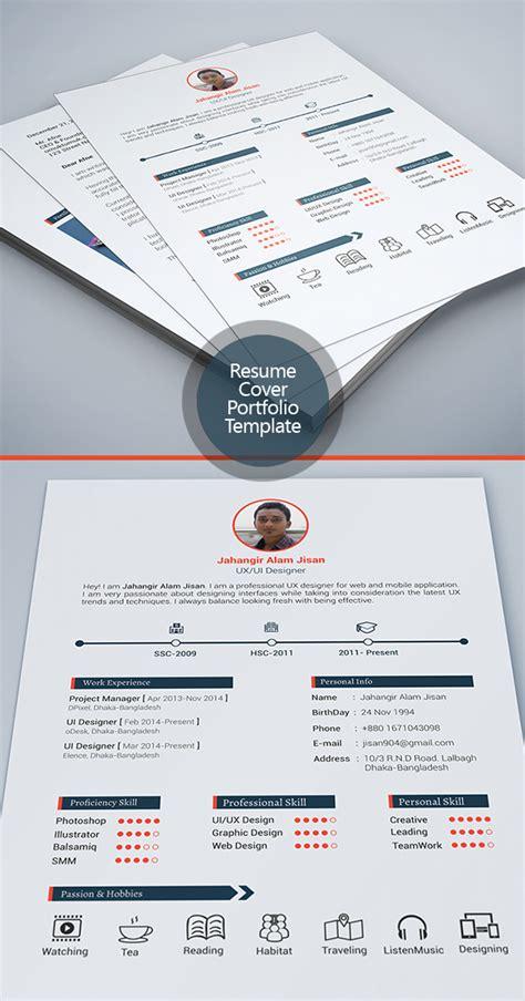 Modern Resume Template Cover Letter Portfolio Free Free Modern Resume Templates Psd Mockups Freebies