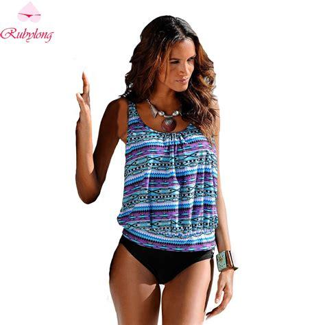 Model Baju Big Size 2016 Swimwear 2017 Swimsuit Plus Size Tankini Sets