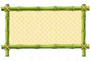 Bamboo frame with woven 4863 download royalty free vector clipart