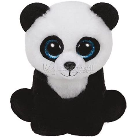 blue black and wight panda peluches ty pas cher