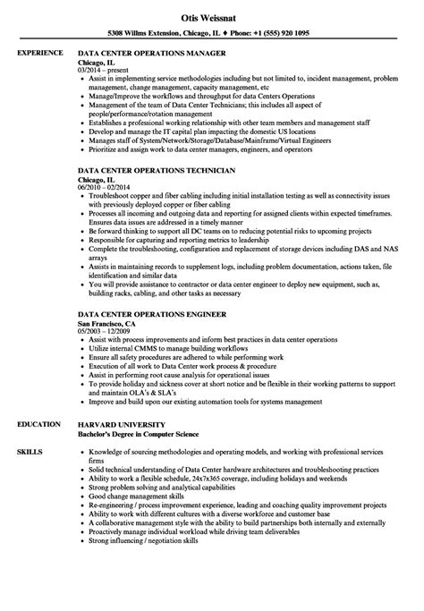 data management resume sle operations analyst resume sle 28 images director of