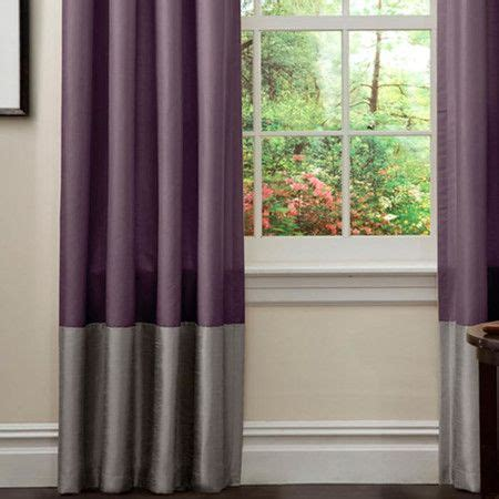 Gray And Purple Curtains Ideas Prima Curtain Panel In Purple Gray Set Of 2 Decorating Ideas The Two Two
