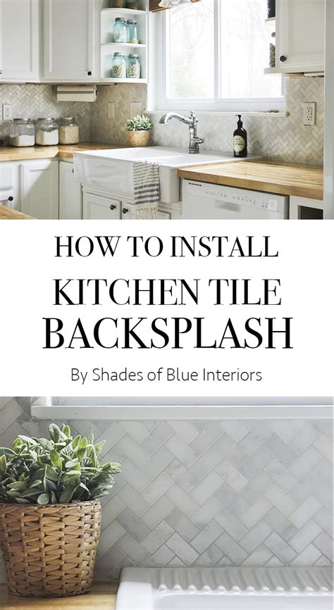 How To Install A Backsplash In The Kitchen How To Install Kitchen Tile Backsplash Shades Of Blue