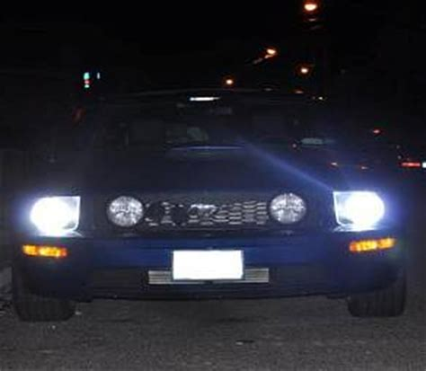 mustang hid lights hid dual beam headlight conversion kit for 05 11 mustang