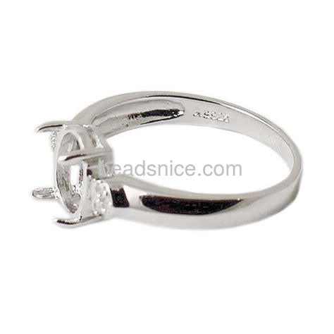 wholesale sterling silver ring settings without stones