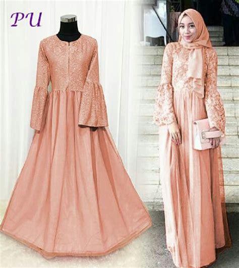 Maxi Karmila Turqis Ori Pu jual baju muslim brukat gamis modern kebaya muslimah dress kondangan busana musllim wanita