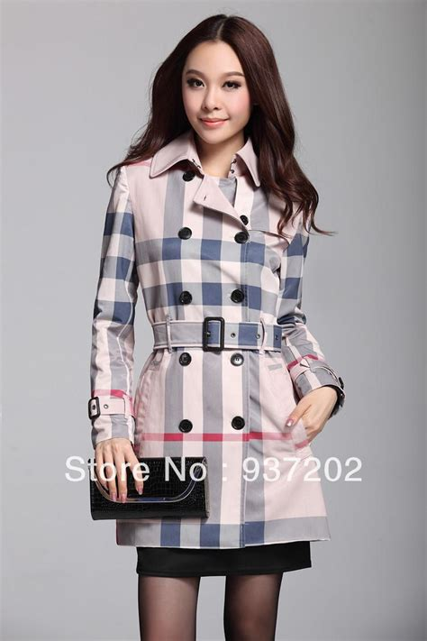 pink pattern coat autumn summer trench coat british style trench coat women